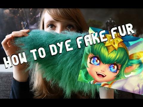 How to dye fake fur tutorial (Star Guardian Lulu)