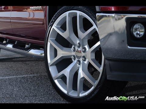 GMC Sierra 2014 on 26 Sierra Replica wheels Silver