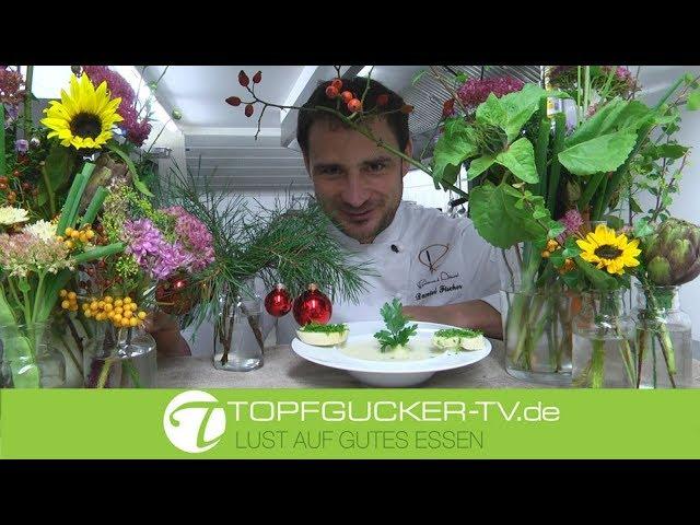 Sellerie - Knoblauch Suppe mit Petersilienbrot   Rezeptempfehlung Topfgucker-TV