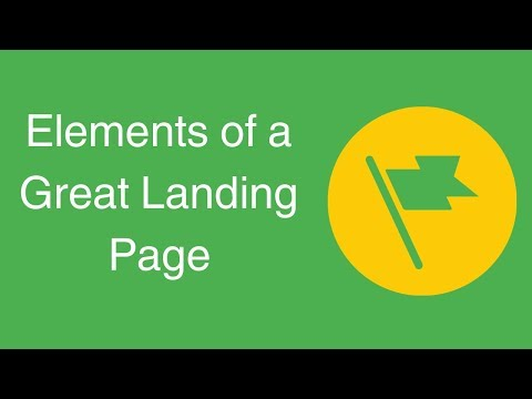 Watch 'Elements of a Great Landing Page '