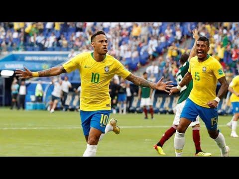 Fußball-WM 2018 Achtelfinale:  Brasilien ist im WM-Viertelfinale, Mexiko scheidet aus