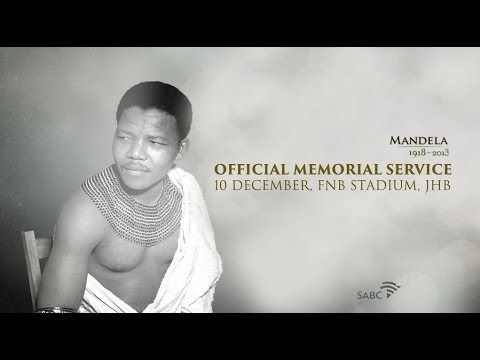 *LIVE* - This is the official national memorial service for former president Nelson Mandela, who died on Thursday December 5, 2013, at the age of 95. An estimated 90 ...