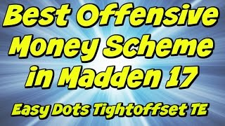 Best Offensive Money Scheme in Madden 17! Dots for days! | Tight Offset TE | Madden 17 Tips