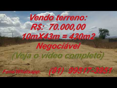 Terreno Lacerdópolis (Arco-Íris) - Garanhuns R$ 70.000,00
