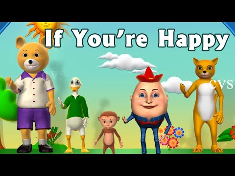 it - If you're happy and you know it, clap your hands - 3D Animation Rhymes for Children