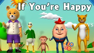 Video If You're Happy and You Know it Clap Your Hands Song - 3D Animation Rhymes for Children MP3, 3GP, MP4, WEBM, AVI, FLV Agustus 2018