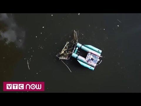 Robot dọn rác điều khiển qua mạng  | VTC1 - Thời lượng: 71 giây.