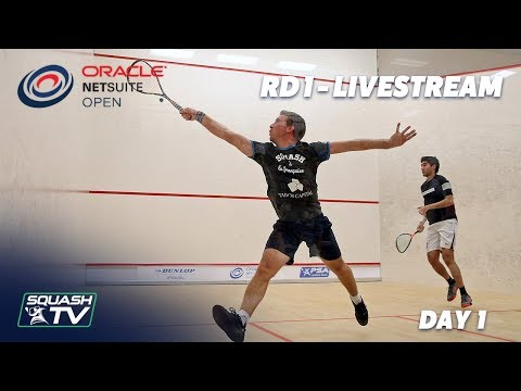 Oracle NetSuite Squash Open 2019 - Rd 1 Livestream - Day 1