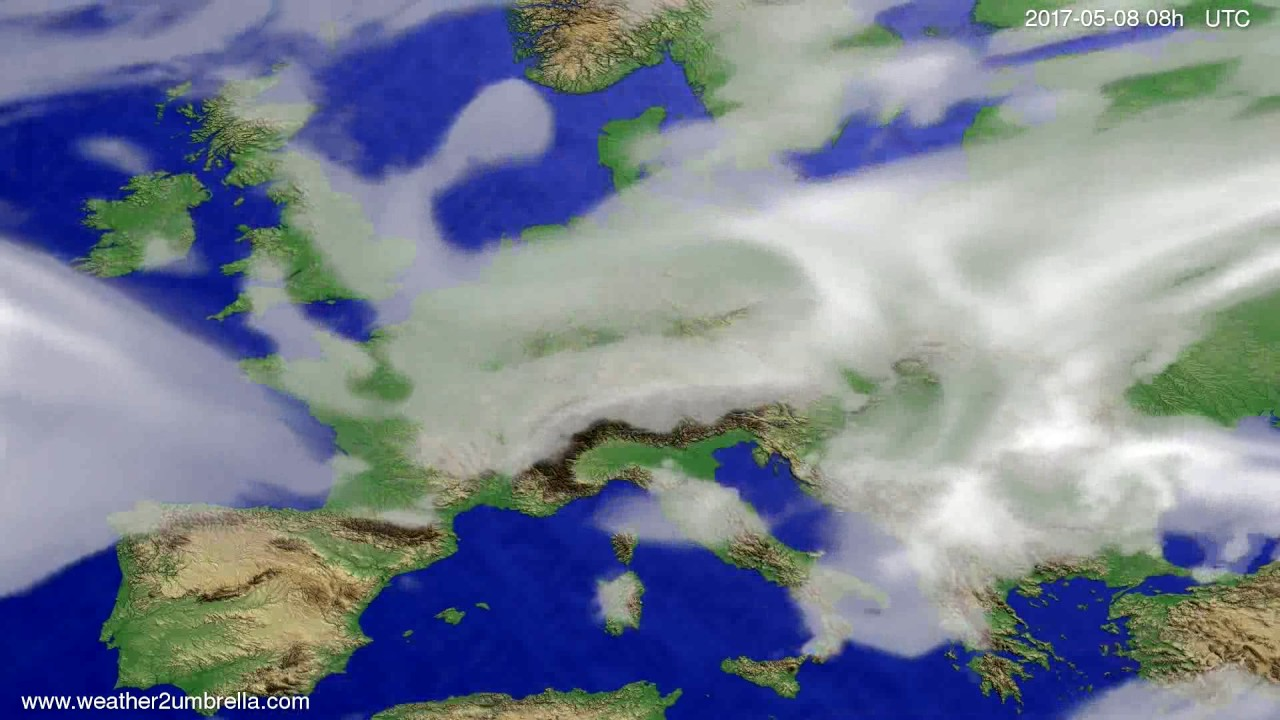 Cloud forecast Europe 2017-05-05