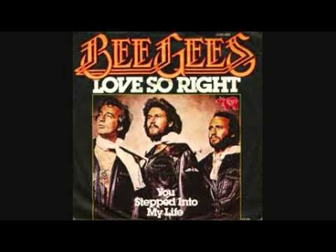 Tekst piosenki Bee Gees - Love So Right po polsku