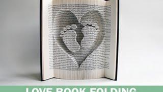 Book Folding Pattern Baby Feet in Heart