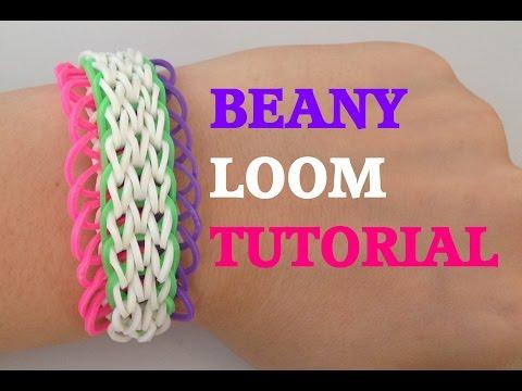 Loom Bands BEANY (Original Desgin) Rainbow Loom Bracelet Tutorial l JasmineStarler