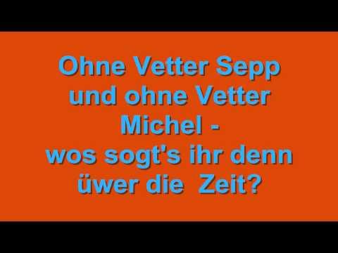 Wos sogt's ihr denn üwer die Zeit? – Lustiges Dialekt-Lied in Egerländer Mundart