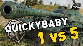 """World of Tanks - WZ-132A. Today I'm put to the test going 1 vs 5 in the T9 Chinese light tank the WZ-132A.SUBSCRIBE for more videos!: ►https://goo.gl/5VIiJnT-SHIRTS: ►https://goo.gl/s2OINqLIVESTREAMS: Tuesdays, Thursdays and Sundays for 5 hours+ Starting @ 18:00-CET / 17:00-GMT / 12:00-EST►http://www.twitch.tv/quickybabyTwitter ►http://www.twitter.com/quickybabyFacebook ►http://www.facebook.com/quickybabyI'm partnered with G2A, get the latest games at the best prices! ►3% cashback using MY code: ►BABY◀ https://www.g2a.com/r/quickybabyQuickyBaby's FAQ►https://goo.gl/4Mi8wj___World of Tanks is a Free 2 Play online game published by Wargaming and is available as a free download here:https://goo.gl/AcgARAUse invite code """"QUICKYBABY4WOT"""" to get a T-127 with a 100% crew, 500 gold, 7 days premium, and a gun laying drive!"""
