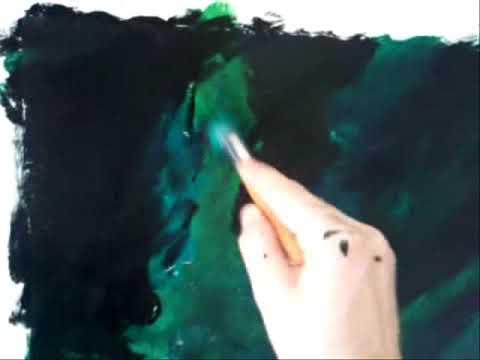 finto marmo - semplice dimostrazione di finto marmo verde