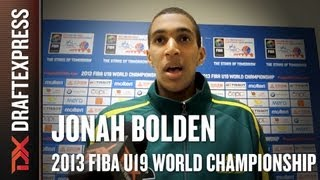 Jonah Bolden Interview at the 2013 FIBA U19 World Championship in Prague