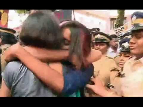 Kiss Of Love Kissing Protest Kochi India