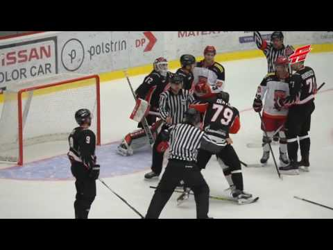 Fights Mountfield HK vs Avangard Omsk Region Brawl Драка Моунфилд vs Авангард Омск (видео)