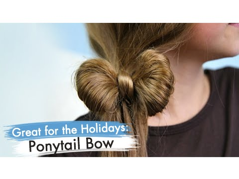 Ponytail Bow %7C Easy Hairstyles %7C Cute Girls Hairstyles 