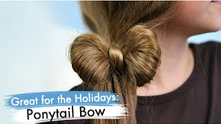 Ponytail Bow | Easy Hairstyles