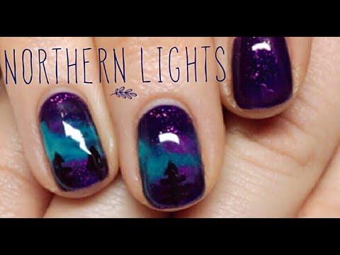 Gel nails - Northern Lights Aurora Gel Nail Tutorial - Step by step