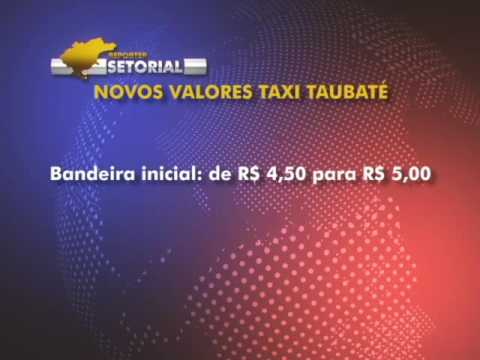 Tarifas de taxi sofrem reajuste em Taubaté