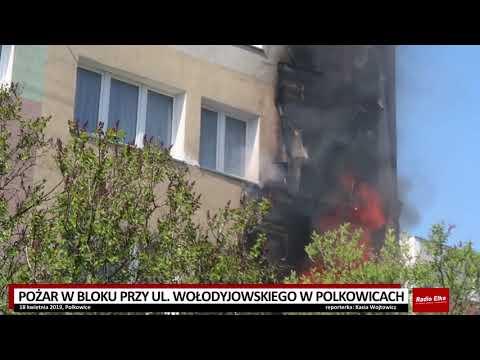 Wideo: Pożar w bloku w Polkowicach
