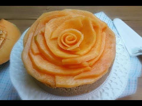 torta fredda al melone - ricetta senza cottura e senza forno