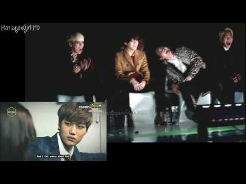 131114 EXO drama VCR @ Melon Awards 2013 - SHINee reaction (SPLIT SCREEN):  I don't own any of those vids. I just combine them together. {:Exo vcr vid+eng sub- from here: http://www.ascendents.net/?v=JYVbEkkvXcUShinee fancam: http://www.ascendents.net/?v=2OVNIYEzrRQlol Taemin's face when there's frame of Kai. taekai ♥ xDShinee and Exo fighting♥.