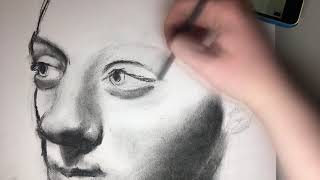 Video Drawing ReviewBrah Portrait Charcoal MP3, 3GP, MP4, WEBM, AVI, FLV Juni 2018