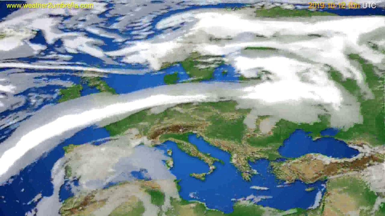 Cloud forecast Europe // modelrun: 12h UTC 2019-10-09