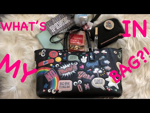 What's In My Bag Wednesday! Ft. Anya Hindmarch Stickers Purse! видео