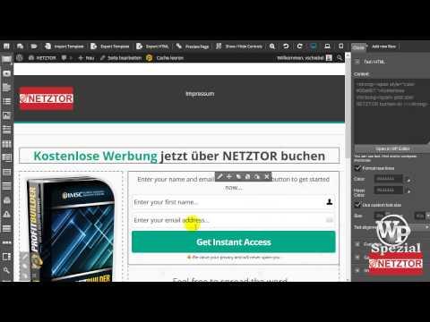 ProfitBuilder Elemente anpassen Optimizepress LandingPage WordPress Anleitung #NETZTOR