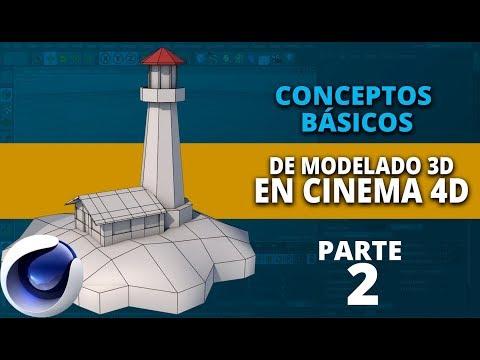 Conceptos básicos de modelado en Cinema4D ::: Parte 2 (видео)