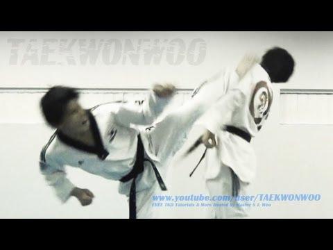 Taekwondo Front Foot Whip (Hook) Kick Tutorial (TaekwonWoo) (видео)