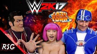 WWE 2K17 | ROBBIE ROTTEN VS SPORTACUS & STEPHANIE | LAZYTOWN | FANTASY CELEBRITY WRESTLING (2018)