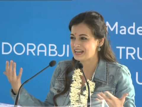 Video Dia Mirza speaks at Janawada Jaldhaara Foundation download in MP3, 3GP, MP4, WEBM, AVI, FLV January 2017