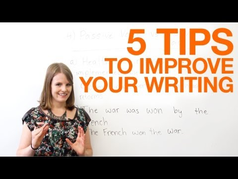 Tips - http://www.engvid.com/ Want to become a better writer? In this video, I will share five easy and quick tips that will improve writing in formal and academic ...