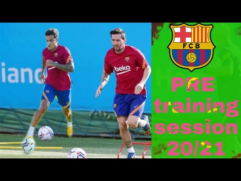 Barcelona  preseason training session for 2020/21