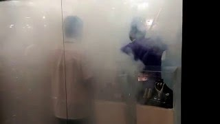 Smoke Screen demonstration at ISC Brasil 2016 – jewellery store theme