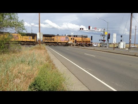 railroad crossing - I finally got a main Line Freight Train. I decided to go out to this crossing to get some freight trains. There was actually a train meet here. I didn't reco...