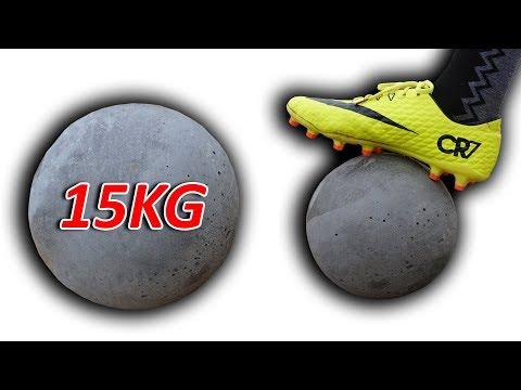 NTN - Thử Thách Đá Bóng Bê Tông Nặng 15KG (Play soccer with 15kgs concrete ball)
