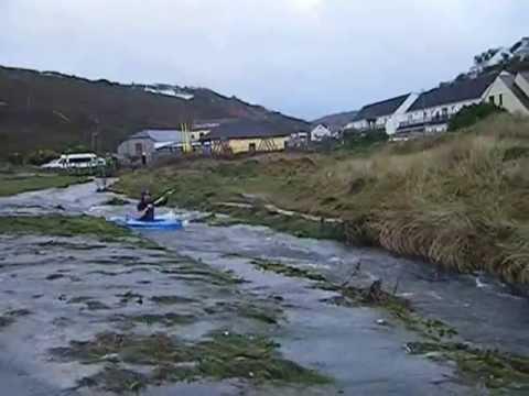 White Water Kayaking, Porthtowan Winter storms 2012