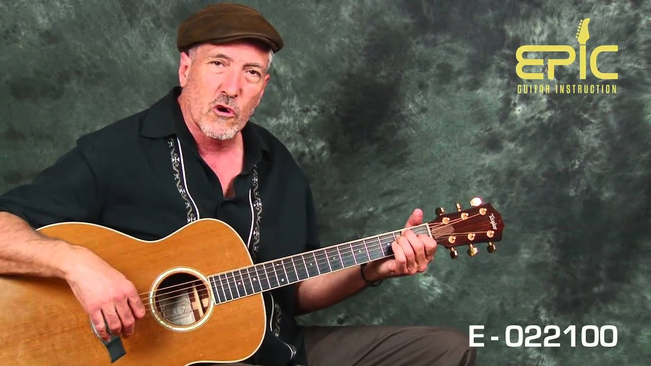 Guitar song lesson EZ classic country George Strait Amarillo By Morning with chords strumming
