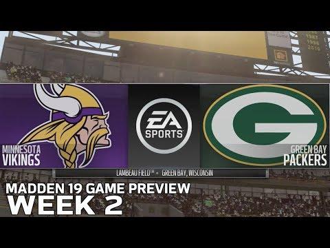 Vikings vs. Packers Madden 19 Simulation | Week 2 Game Preview | NFL