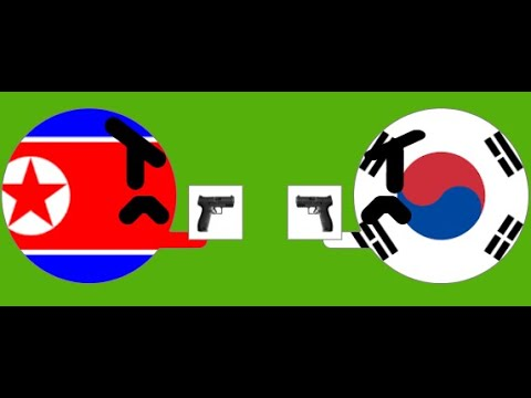 Territory Wars Marble Race - North Korea vs South Korea