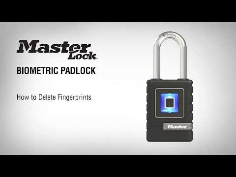 4901EURDLH生物识别挂锁:如何删除指纹