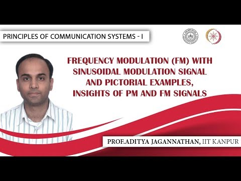 Lec 29 | Principles of Communication Systems-I | FM with Sinusoidal Modulation Signal| IIT KANPUR (видео)