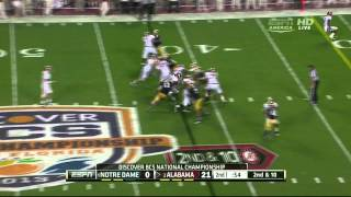 Louis Nix III vs Alabama (2012 Bowl)