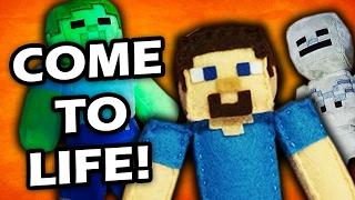 MINECRAFT PLUSHY ADVENTURE - Minecraft Plushy's Come to Life!